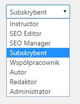 dostępne role dla użytkowników WordPress