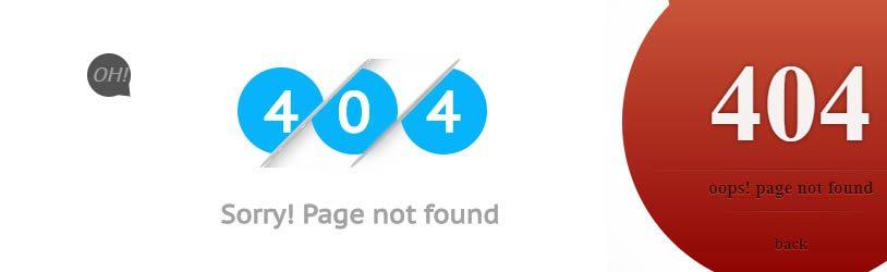 przykładowe strony 404 warte uwagi