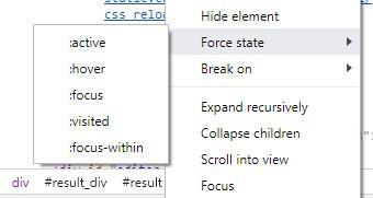 stany przyjmowane przez elementy HTML