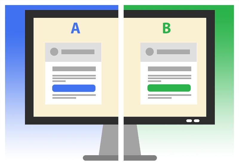 Testy A/B - porównujemy wpływ jednej zmiany na stronie